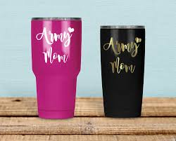 Army Mom With Heart Decals For Cars Car Stickers Monograms Vinyl Decals For Cups Laptop Stickers Notebook De Decals For Yeti Cups Ipad Decal Pattern Decal