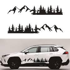 2pcs Black Car Sticker Tree Mountain Decal Forest Vinyl Graphic For Camper Rv Trailer Truck Custom Sticker Car Stickers Aliexpress