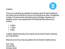 interview request email sle template