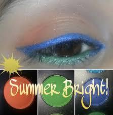 summer bright orange blue green eyemakeup