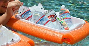 floating pool noodle cooler summer