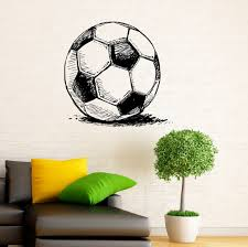Soccer Ball Wall Decal Football Vinyl Stickers Sport Game Player Interior Home Design Art Murals Wall Graphics Decor Wish