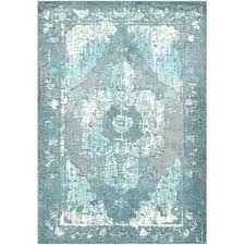 teal off white area rug and black gray