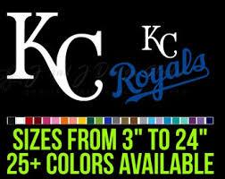 Kansas City Royals Decal Etsy