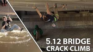 climbing a bridge hand urban
