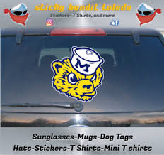 U Of M Michigan Wolverines Classic Logo 6 Inch Window Vinyl Decal Sticker Ebay