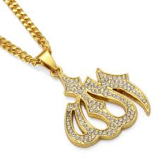 name necklace pendant gold