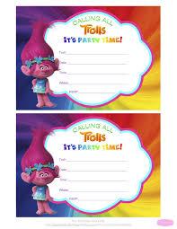 Trolls Invitations Jpg 5100 6600 Con Imagenes Cumpleanos