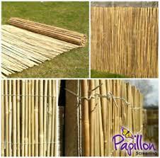 Bamboo Screening Roll Screen Fencing Garden Fence Panel Outdoor 4m Long Ebay