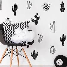 Cactus Wall Decals Woodland Tribal Cactus Wall Stickers For Kids Room Baby Nursery Decor Art Succulent And Cacti Wall Tattoo Belecthleen