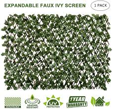 Amazon Com Doeworks Expandable Fence Privacy Screen For Balcony Patio Outdoor Faux Ivy Fencing Panel For Backdrop Garden Backyard Home Decorations 1pack Garden Outdoor
