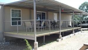 ranch house steel patio cover deck and