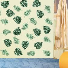 Shop Green Palm Leaves Wall Decal Art Vinyl Sticker Plant Mural Home Decor Wall Vinyl Overstock 17951195