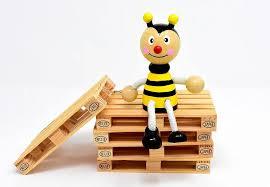 蜂、ユーロパレット、図、ホルツスタペル、業界、ロジスティクス ...