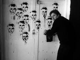 Conrad Bo Spray Paint Andy Warhol Faces On A Wall Art Print By Conrad Bo