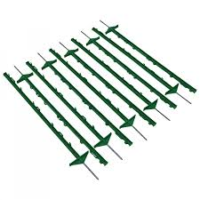 1m Green Plastic Electric Fencing Pins Posts Stakes Pack Of 10 24 99 Oypla Stocking The Very Best In Toys Electrical Furniture Homeware Garden Gifts And Much More