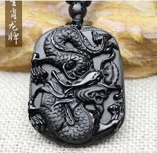 black obsidian stone chinese dragon