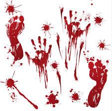 Red Bloody Blood Vampire Hand Print Blood Drops Vinyl Car Window Laptop Decal Horror Creepy Funny Halloween Decal Sticker Wish