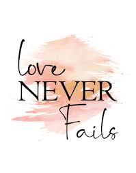 Love Never Fails Print Love Never Fails Sign Love Never Fails Wall Art Peach Gold Decor Gold Peach Decor Pink Decor Up To 13x19 Love