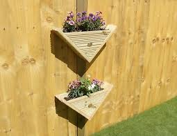 Flower Plant Pots Baskets Window Boxes Fence Post Mounted 90 Triangle Wall Hanging Decking Planter Basket Pots Garden Patio Tallergrafico Com Uy