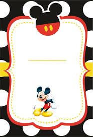Te Invito A Mi Fiesta Con Imagenes Invitaciones Mickey