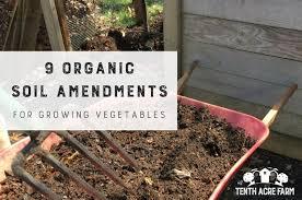 9 organic soil amendments for growing