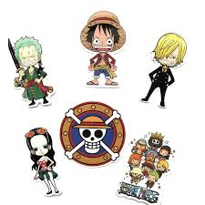 6pcs One Piece Anime Stickers Luffy Nami Robin Car Notebook Suitcase Decal Sticker Kids Toys Stickers Aliexpress