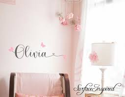 Wall Decals Personalized Names Nursery Wall Decal Kids Olivia With Hea Surface Inspired Home Decor Wall Decals Wall Art Wooden Letters