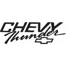 Chevy Thunder Decal