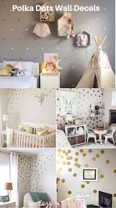 Polka Dot Vinyl Wall Stickers In 2020 Diy Girls Bedroom Gold Dot Wall Trendy Wall Decor