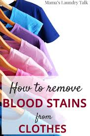 how to remove blood sns mama s