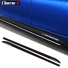 Car Styling Newest M Performance Side Stripe Skirt Sill Sticker Decal For Bmw F30 F31 X5 F15 F85 E60 E61 F22 E90 F10 F11 F01 F02 R Stripe Skirt Side Stripe