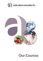 Adele Adams Associates Courses Brochure May 18