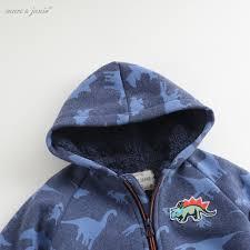 Mark Jenny quần áo mùa đông mới cho bé cộng với áo khoác nhung dày cho bé  trai thời trang áo len ngụy trang 82115B | Lumtics