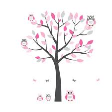 Owl Stickers And Owl Wall Art For Kids Nursery Or Baby Rooms