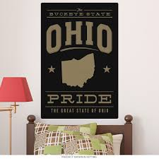Ohio Buckeye State Pride Wall Decal At Retro Planet
