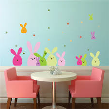 Easter Bunny Wall And Window Stickers Easter Party Decoration Kids Easter Mural Clings And Decals Primedecals