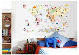 Free Shipping World Map Wall Sticker Wall Stickers Of World Maps Diy Decoration Map Sticker Wall For Kids Babay Room Nursery Map Wall Sticker World Map Wall Stickerwall Sticker Aliexpress
