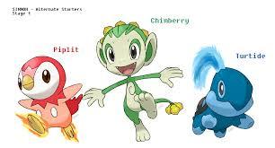 Gen 4 Alt-Type Starters : pokemon