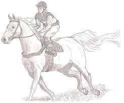 Anti Stress Kleurplaten Paarden Ruiter 7