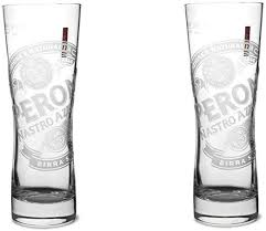 peroni signature italian beer glass