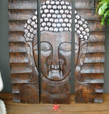 carved wall art buddha wall art