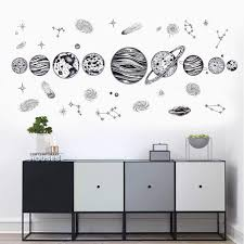 Glow In The Dark Wall Target Snowflake Solar System Vinyl Decal Design Nz Outer Space Star Wars Vamosrayos