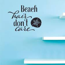Beach Hair Don T Care Wall Art Decal For Bedroom Or Living Room 12 X 18 Diy Removable Adhesive Nature Beach Buddy Home Sticker Decoration Walmart Com Walmart Com