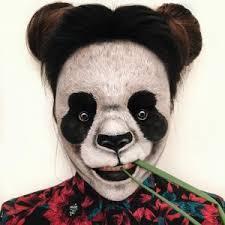 panda bear makeup rearfront
