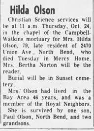 Obituary for Hilda Olson (Aged 79) - Newspapers.com