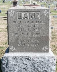 Polly B Fowler Bare (1830-1874) - Find A Grave Memorial