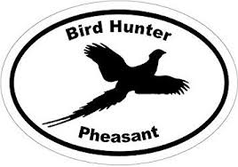 Amazon Com Pheasant Hunter Bird Hunting Vinyl Decal Sticker Great For Truck Car Bumper Or Tumbler Perfect Husband Fathers Day Bird Hunter Outdoor Lover Gift Made In The Usa Size 4 7