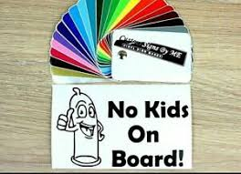 No Kids On Board Funny Car Sticker Vinyl Decal Adhesive Window Bumper Tailgate Ebay