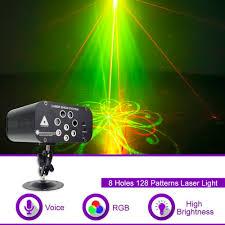 Wuzstar 8 Lỗ 128 Hoa Văn Đèn Laser Disco Đèn LED DJ Chiếu Sáng Đảng Trang  Trí Sân Khấu Cho Gia Đình Đám Cưới Lễ Hội Âm Thanh|
